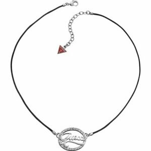 GUESS-COLLANA-DONNA-CORDINO-NERO-UBN12103-brillantini-cerchio-originale-bijoux