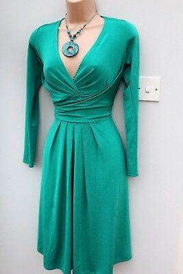 Primark taille 14 VERT Wrap Buste Kate Middleton Replica dress EU 42 US 10 12