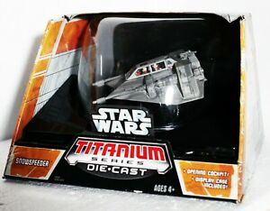 HASBRO TITANIUM SERIES STAR WARS SNOWSPEEDER - IN DOME DISPLAY CASE