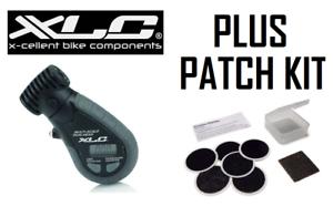 XLC Digital Bike Tyre Pressure Gauge & Glueless Puncture Patch Kit