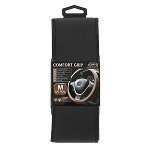Car-Comfort-Grip-Stretch-Fit-Steering-Wheel-Cover-Glove-m-Black-Sumex