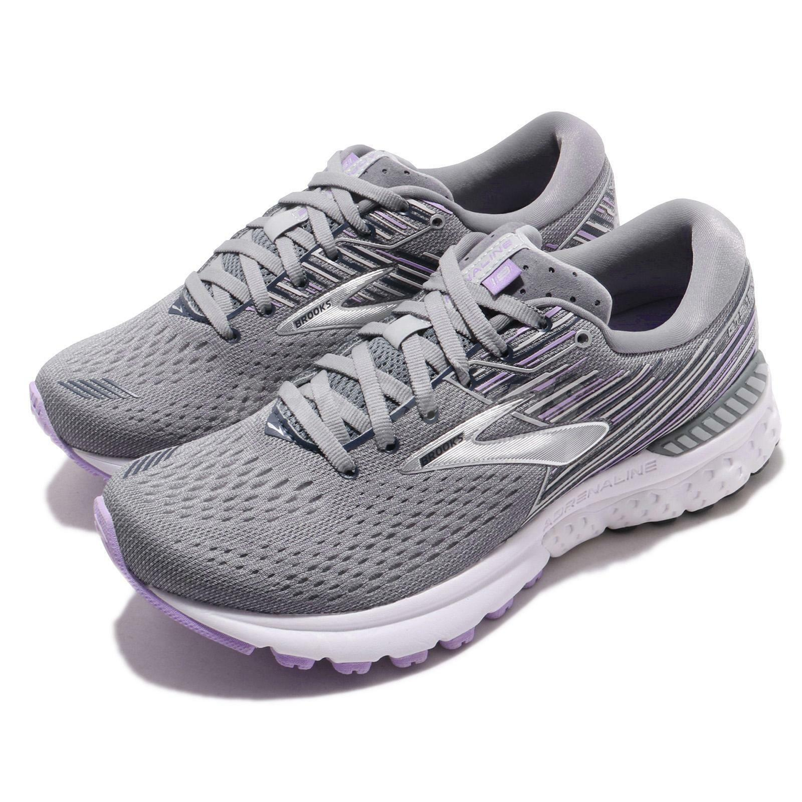 Brooks Adrenaline GTS GTS GTS 19 D Wide gris Lavender Navy mujer Running zapatos 120284 1D  Entrega directa y rápida de fábrica