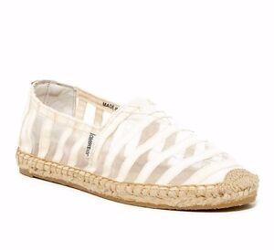 0bc3c69b80 Joy   Mario Ryan Sheer Beige Womens Espadrille Shoes Flats Size 6.5 ...
