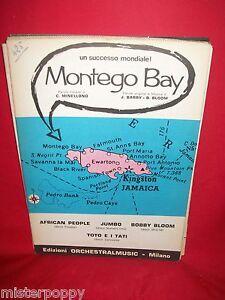AFRICAN PEOPLE TOTO E I TATI Montego Bay + BONGUSTO Per un attimo 1970 Spartiti