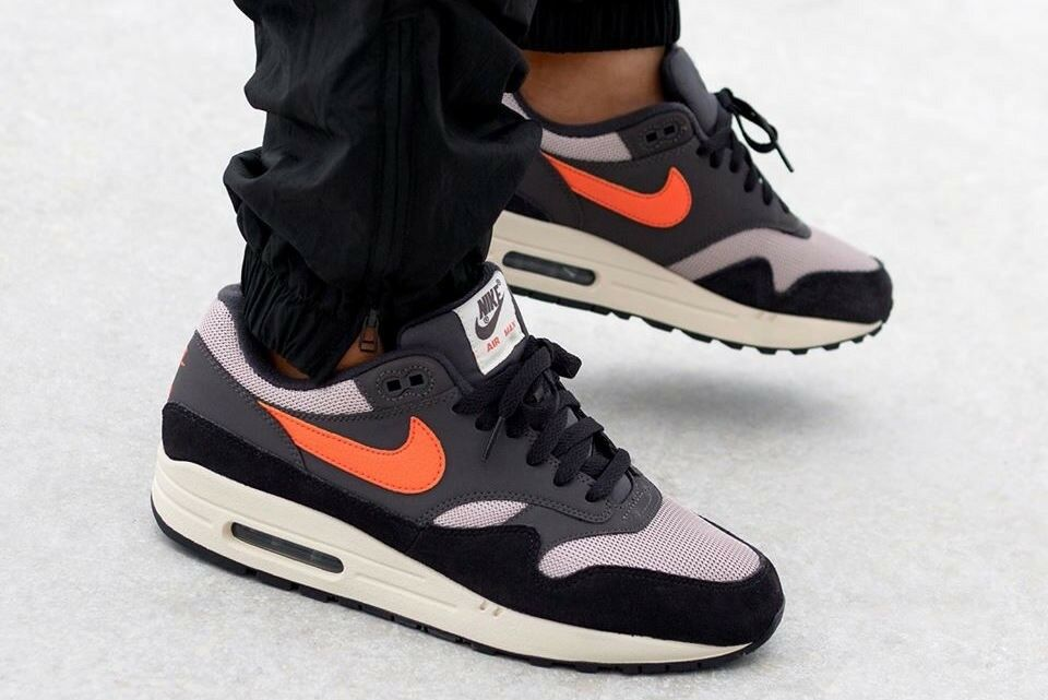 Nike Air Max 1 Oil grau Mango Uk Größe 9 Eur 44 AH8145-004