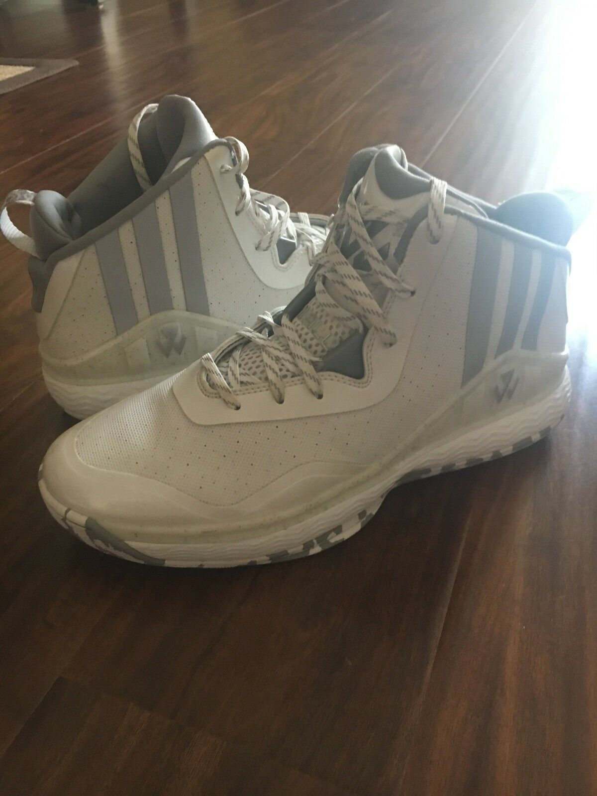 Men's white adidas j wall 1 basketball shoe size 8.5