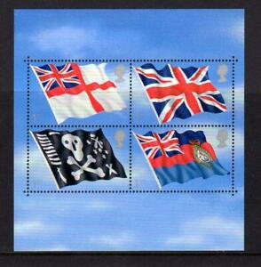2001-GB-FLAGS-AND-ENSIGNS-Miniature-Sheet-MS2206-MNH-Royal-Navy-Skull-Crossbones