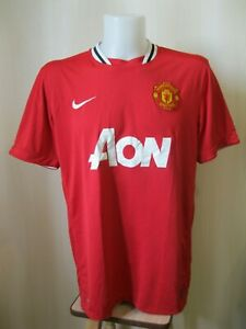 Manchester-United-2011-2012-Sz-XL-Home-Nike-shirt-jersey-football-soccer-maillot