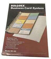 Rolodex Business Card Office Organization System Model Bc 60 New