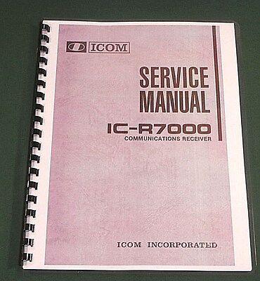 "11/"" X 32/"" Foldout Schematics /& Plastic Covers! Icom IC-R72 Service Manual"