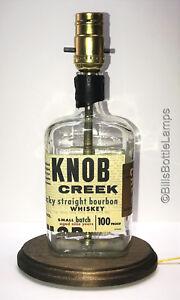 RARE Double Cross Vodka Liquor Bottle TABLE LAMP Bar Lounge Light with Wood Base