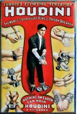 Retro Vintage Style Houdini FRIDGE MAGNET Classic Advertisement  AD Magician Mag