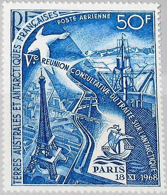 Taaf Fsat 1969 Maury Air 18 49 C17 Handel Treaty Conf Eiffel Tower Ship Mnh Seien Sie Im Design Neu Australien, Ozean. & Antarktis
