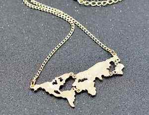 World map globe pendant necklace explorer wanderlust earth adventure image is loading world map globe pendant necklace explorer wanderlust earth gumiabroncs Images
