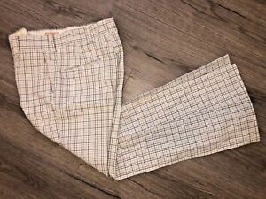 Rare VINTAGE 1970s Levis Panatela Plaid Bell Bottom Hose Flare Disco Herren 30 x 30