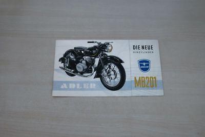 Anleitungen & Handbücher Auto & Motorrad: Teile Adler M 2011 Prospekt 05/1954 195469