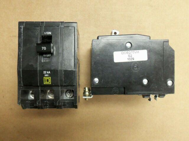 Square D QOB370 3 Pole 70 Amp Circuit Breaker 120//240V