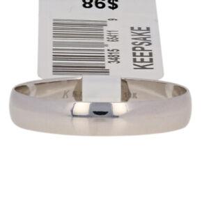 NEW-4mm-Keepsake-Wedding-Band-10k-White-Gold-Men-039-s-Ring-Size-11-11-1-4