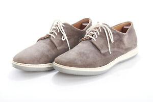 Mens-GIORGIO-ARMANI-Sneakers-10-5-Smoke-Taupe-Gray-Fine-Corduroy-Lace-Up-Shoes