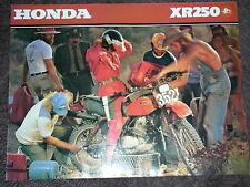 NOS HONDA XR 250 1979 SALES BROCHURE VINTAGE TRAIL TWINSHOCK ELSINORE