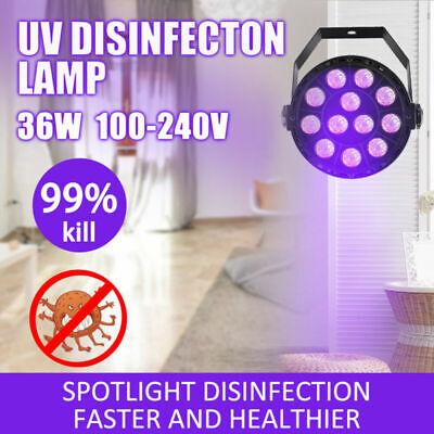 36W Home Disinfection UV Lamp LED Ultraviolet Sterilizing Light Room Spotlight