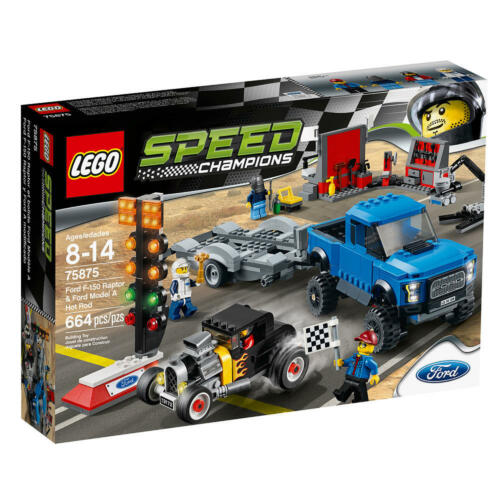 LEGO Speed Champions Ford F150 Raptor & Ford Model A Hot Rod 75875 NEW SEALED