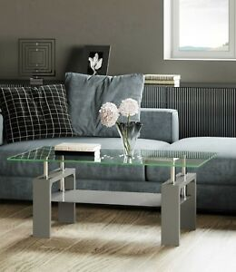 344ff36c74 Image is loading Metro-Modern-High-Gloss-Rectangle-Glass-Coffee-Table-