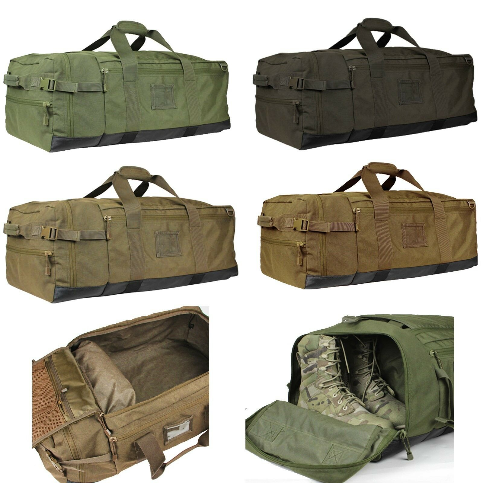 Condor 161 Expandable Compartment Travel Colossus Military Soldier Duffle Bag