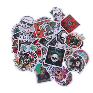 50Pcs-bag-skeleton-skull-punk-rock-stickers-DIY-suitcase-laptop-car-stickers-SJ7