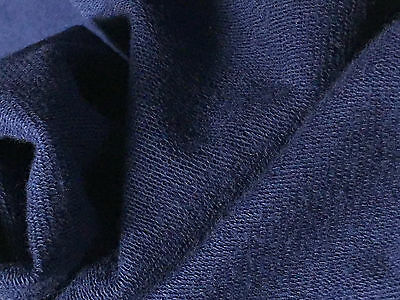 French terry Modal Supima cotton spandex  Knit Fabric soft and luxurious Navy