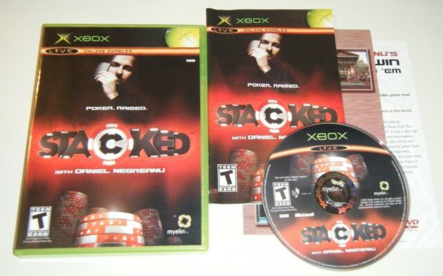 Stacked With Daniel Negreanu COMPLETE GAME for your original XBOX system VG MTV
