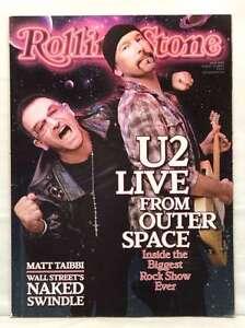 ROLLING STONE MAGAZINE ISSUE 1089 U2 BONO THE EDGE NEIL YOUNG OCTOBER 2009 RARE!