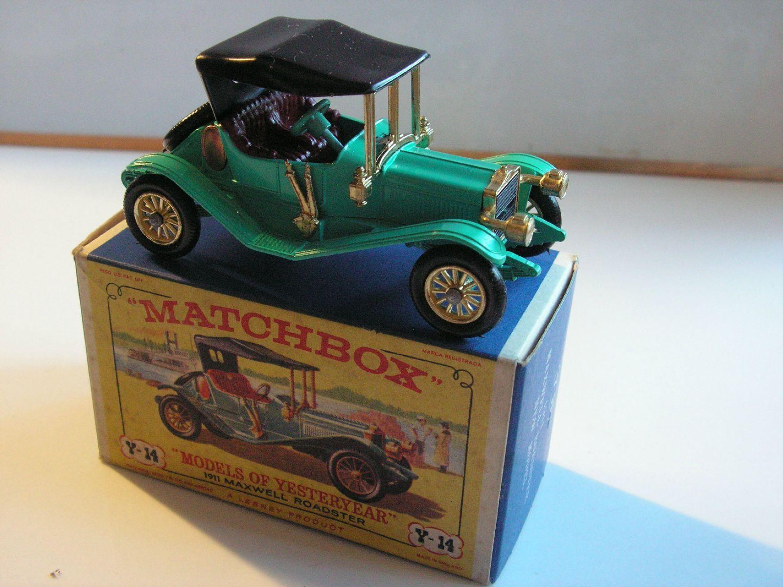 MATCHBOX  Y14 MAXWELL ROADSTER  1911 MIB  NEUF BOITE