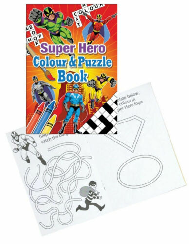 6 Super Hero Sticker Sheets Pinata Toy Loot//Party Bag Fillers Wedding//Kids