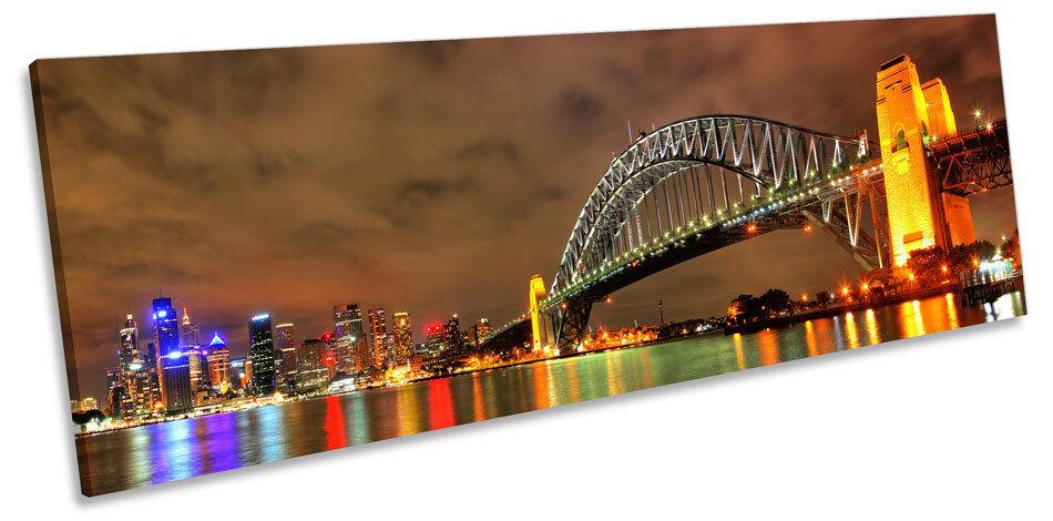 Sydney Harbour Bridge art. a muro panoramico incorniciato stampa
