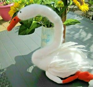 HAND-KNITTED-WHITE-MAJESTIC-SWAN-EASTER-DISPLAY-SHOP-AMAZING