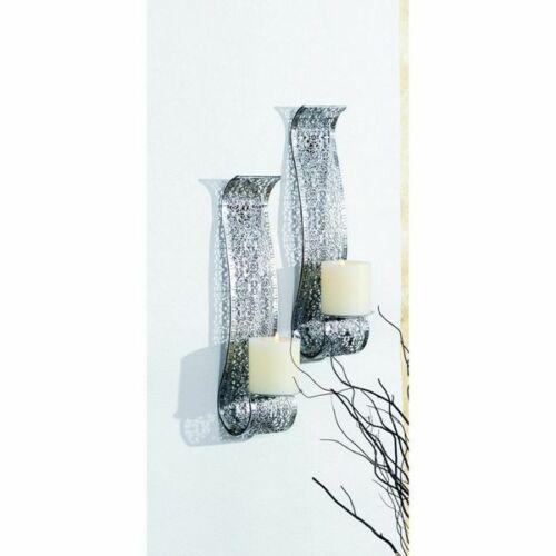 2er Set Wandkerzenhalter für Stumpenkerzen Kerzenhalter Orientalisch Halterung