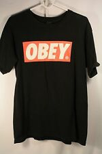 Classic Obey Logo Black T-Shirt Men Medium Street-Wear Skate Propaganda