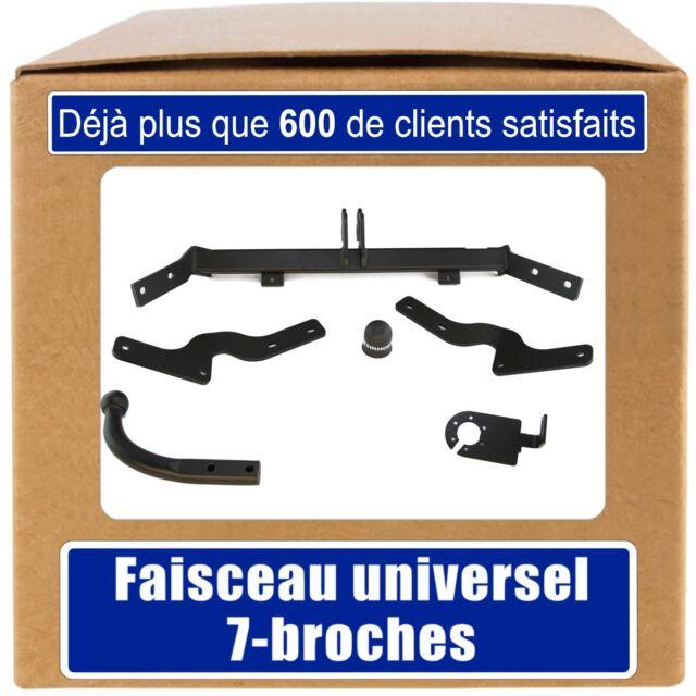 Peugeot Partner I 96-02 Attelage fixe+faisceau 7-broches uni.
