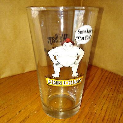 "(Lot of 4) 16 Oz  Beer Glasses Kirin Ichiban Sumo Says Shot Glass, 6"" | eBay"