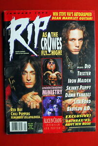 BLACK CROWES COVER KISS POSTER '93 MEGADETH I.MAIDEN DIO ...