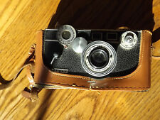 Vintage Argus Coated Cintar Camera The Brick 3.5 50MM Black w Brown Leather Case