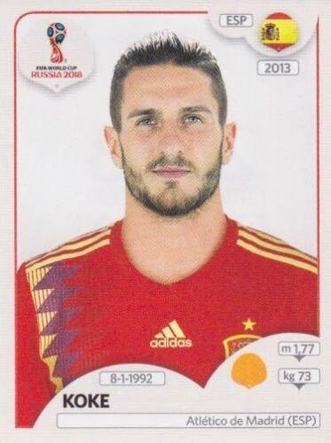 144 Koke ESP Spain Espana Bild NEU Panini Sticker Fußball WM 2018 Russia Nr