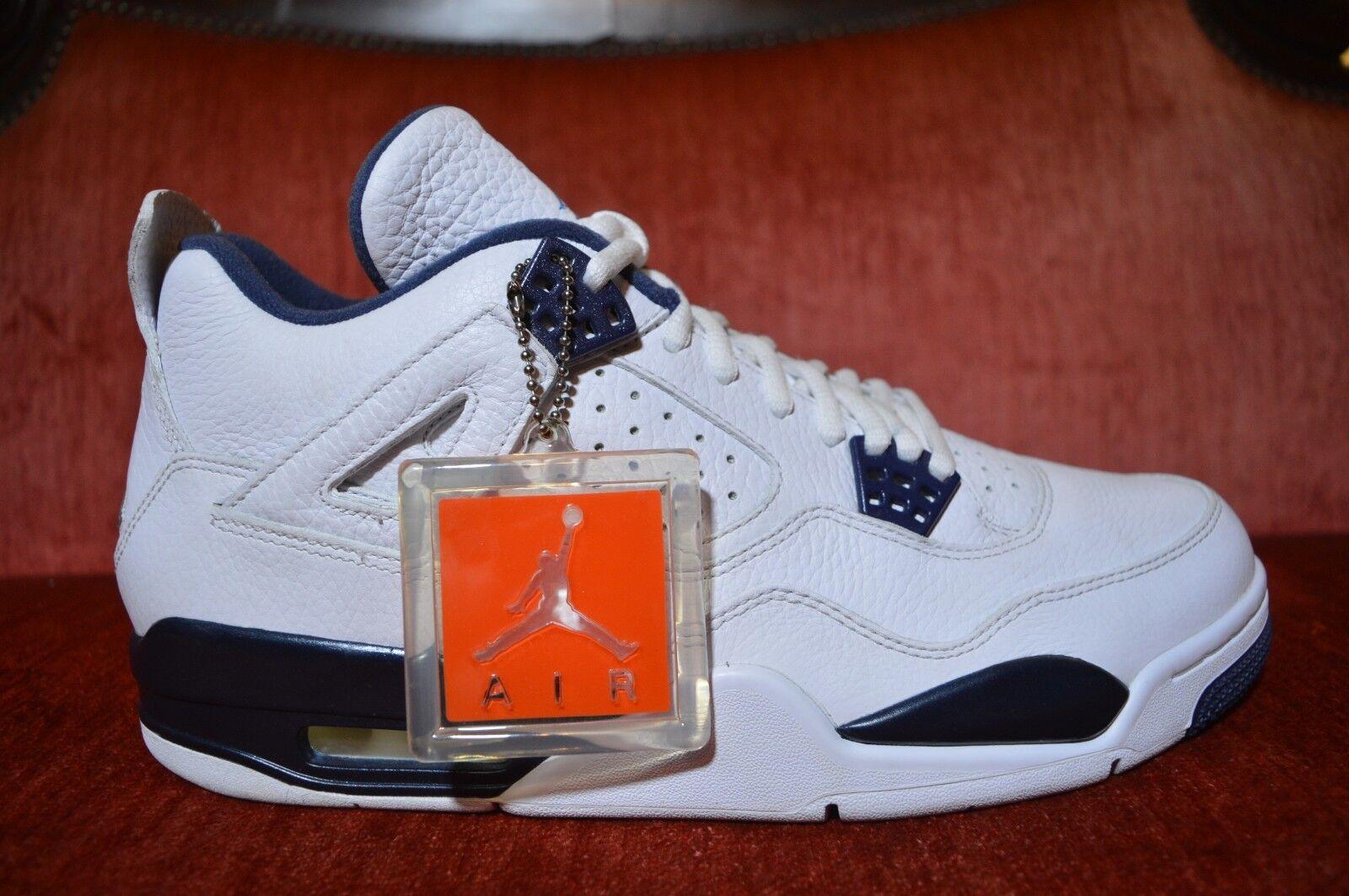 low priced 603e9 da9e6 Nike Air Jordan 4 Retro LS Legend bluee Mens Size Size Size 11 314254 107  NEW