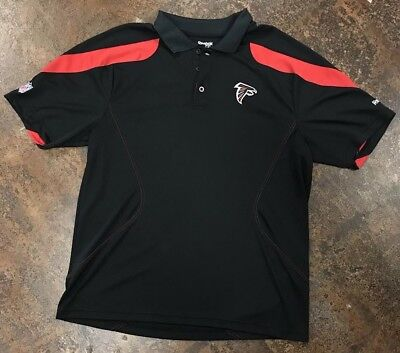 Atlanta Falcons Black Red Polo Shirt