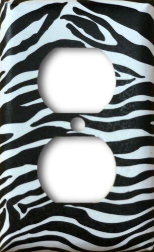 Zebra Design Decorative Duplex Outlet Cover Wall Plate