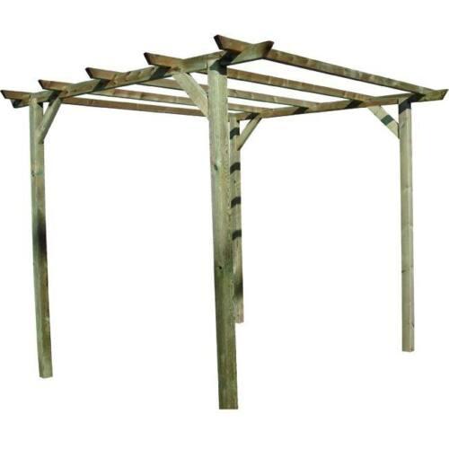 Pergola Holz BLINKY Modell Meliert 300x300 CM