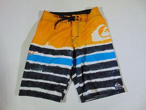 Boys euc ~ blu 27 Shorts nero Quiksilver Taglia Arancione P5H7qxC