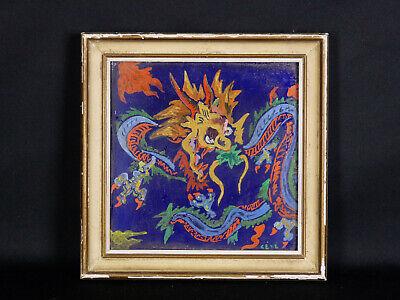 CÉvÉ (1951) Christine Vasilescu Gouache Céramique Paris Dragon École Du Louvre