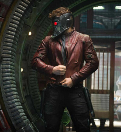 Guardians Of The Galaxy Peter Quill Star Lord Chris Pratt Real Leather Jacket